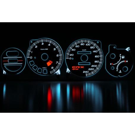 Honda CRX Del Sol wzór 1 świecące tarcze licznika zegary INDIGLO
