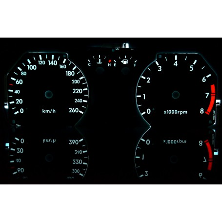 Hyundai Coupe 2gen. (2002-2008) - classic świecące tarcze licznika zegary INDIGLO