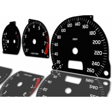 Volvo C70 - Replacement dial - converted from MPH to Km/h