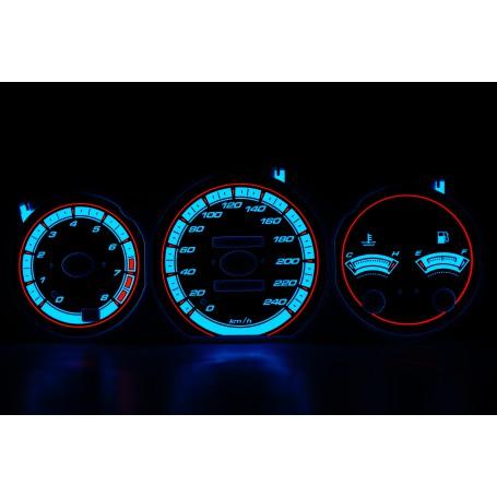 Mazda MX-6 wzór 1 świecące tarcze licznika INDIGLO