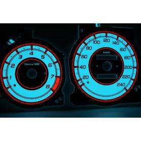 Mazda Xedos 6, 9, Millenia design 2 PLASMA TACHO GLOW GAUGES TACHOSCHEIBEN DIALS