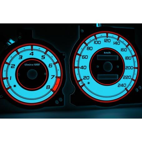 Mazda Xedos 6, 9, Millenia wzór 2 świecące tarcze licznika zegary INDIGLO