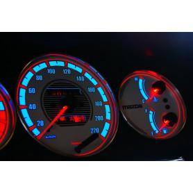 Mazda 323C, 323P, 323S, Protegé, Familia Van design 2 PLASMA TACHO GLOW GAUGES TACHOSCHEIBEN DIALS