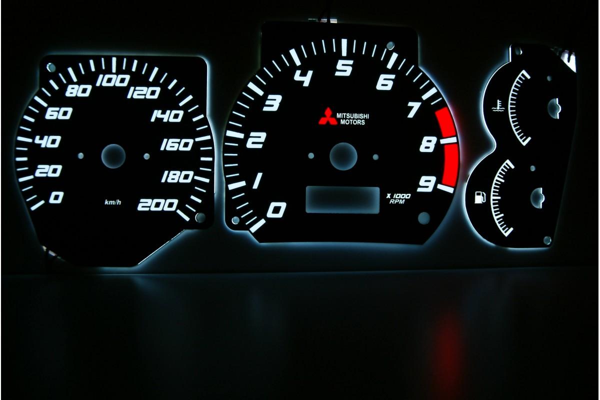 Green LED Dash Speedo Kit Lighting Set For Mitsubishi Evo 4 5 And 6