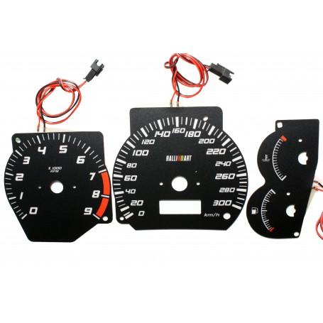 Mitsubishi Lancer EVO 5 EVO 6 świecące tarcze licznika zegary INDIGLO