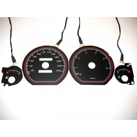 Mitsubishi Carisma wzór 2 świecące tarcze licznika zegary INDIGLO