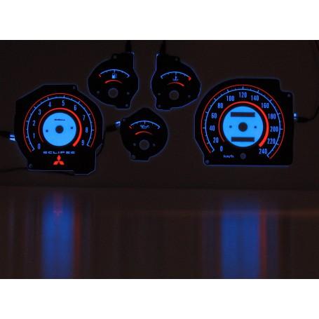Mitsubishi Eclipse 1G świecące tarcze licznika zegary INDIGLO