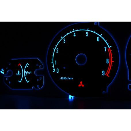 Mitsubishi Eclipse 2G wzór 1 świecące tarcze licznika zegary INDIGLO