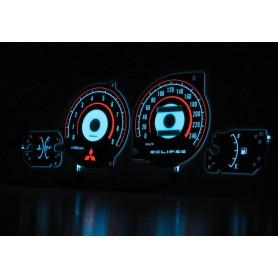 Mitsubishi Eclipse 2G wzór 2 świecące tarcze licznika zegary INDIGLO