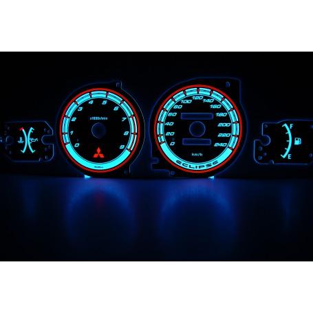 Mitsubishi Eclipse 2G wzór 3 świecące tarcze licznika INDIGLO