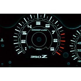 Nissan 350 Z 350z PLASMA TACHO GLOW GAUGES TACHOSCHEIBEN DIALS