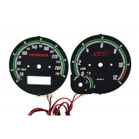 Honda CB 1100 SF X11 ('99-'03) wzór 1 tarcze licznika zegary INDIGLO