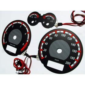 Seat Arosa (1996-2000) wzór 2 tarcze licznika zegary INDIGLO
