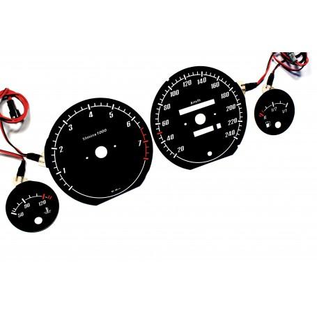 AUDI 100 (C4 i C3 po lifcie) 1988-1994 design 1 plasma tacho glow gauges tachoscheiben dials