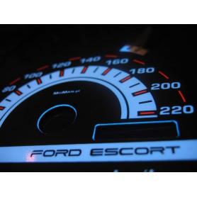 Ford Escort MK5 i MK6 PLASMA TACHO GLOW GAUGES TACHOSCHEIBEN DIALS