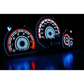 Ford Fiesta MK4 wzór 1 tarcze licznika zegary INDIGLO