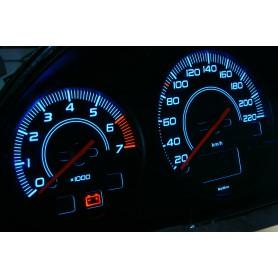 Ford Escort MK7 - digital km counter Design 1 PLASMA TACHO GLOW GAUGES TACHOSCHEIBEN DIALS