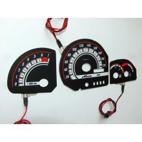 Ford Fiesta MK3 tarcze licznika zegary INDIGLO