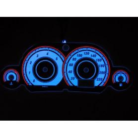 Ford Focus MK1 wzór 2 tarcze licznika zegary INDIGLO