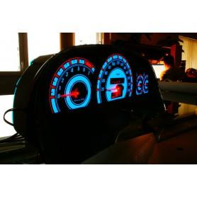 Opel Calibra Wzór 3 tarcze licznika zegary INDIGLO