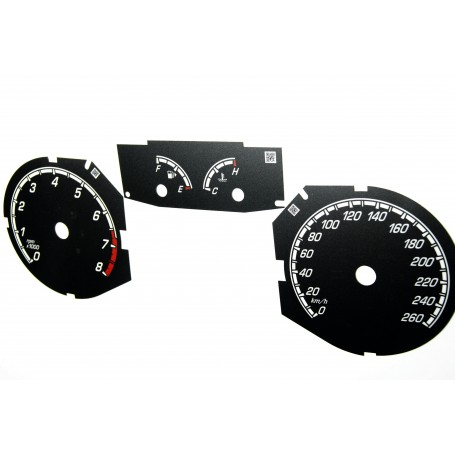 Ford Focus MK3 ST- Replacement dial - converted from MPH to Km/h