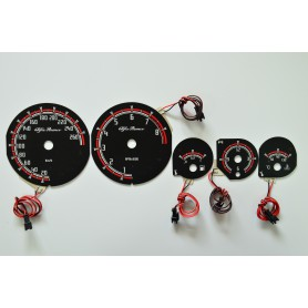 Alfa Romeo GTV design 2 plasma tacho glow gauges tachoscheiben dials