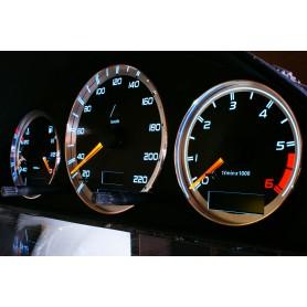 Mercedes W210 E 1995 - 2003 design 1 PLASMA TACHO GLOW GAUGES TACHOSCHEIBEN DIALS
