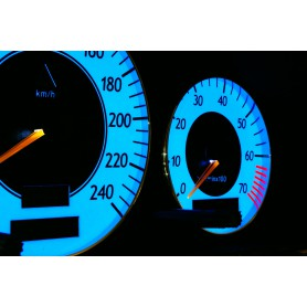 Mercedes W210 E 1995 - 2003 design 2 PLASMA TACHO GLOW GAUGES TACHOSCHEIBEN DIALS