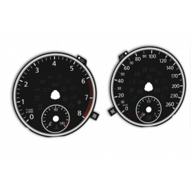 Volkswagen Jetta 6 - Replacement tacho dials - converted from MPH to Km/h