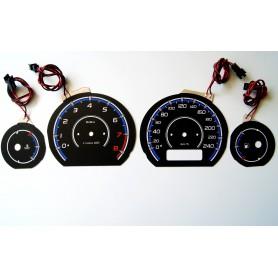Rover 25 / MG ZR PLASMA TACHO GLOW GAUGES TACHOSCHEIBEN DIALS