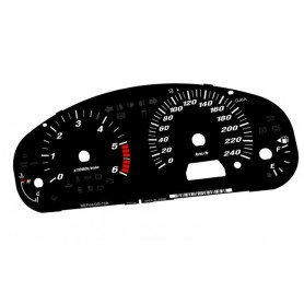 Mazda 6 I (2002-2008) Replacement dial - converted from MPH to Km/h