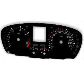 Renault Laguna 3 (2007-2015) - Replacement tacho dials from MPH to km/h