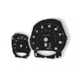 Porsche Macan - Replacement tacho dials - converted from MPH to KM/H