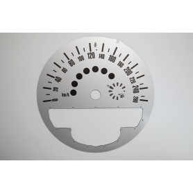 Mini 2 - Replacement dial - white - converted from MPH to Km/h