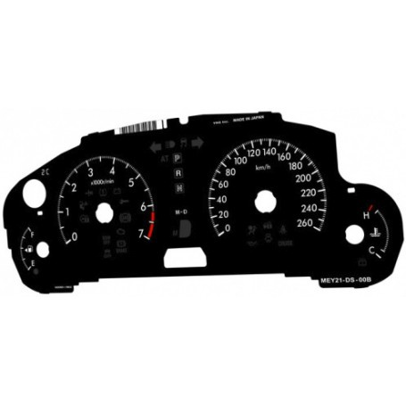 Mazda 6 II USA automat 2,5l (2008-2012) Replacement dial - converted from MPH to Km/h