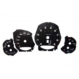 Porsche 911 - model 991 - Replacement tacho dials - converted from MPH to Km/h