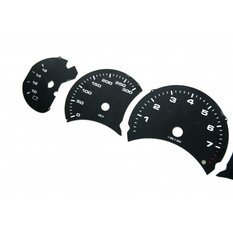 Porsche 911 - model 996 - before lift - Replacement dial - converted from MPH to Km/h