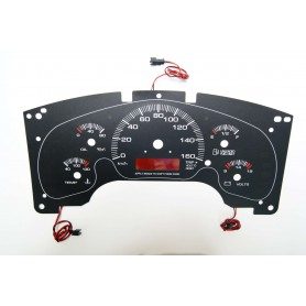 GMC Savana / Chevrolet Astro - INDIGLO Replacement dial - converted from MPH to Km/h