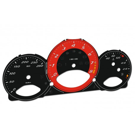 Porsche Cayman / Boxster 2006-2012 - zamiennik MPH na km/h