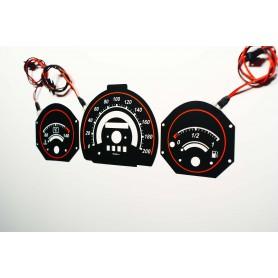 Fiat Uno wzór 1 tarcze licznika zegary INDIGLO