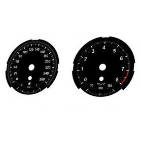 BMW Z4 E89 - zamiennik tarcz licznika z MPH na km/h