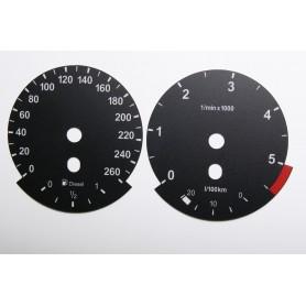 BMW X1 E84 - zamiennik tarcz licznika z MPH na km
