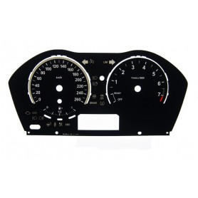BMW F20 , F22 - Replacement dial - converted from MPH to Km/h