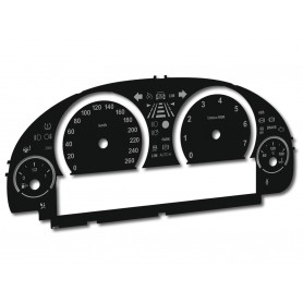 BMW F01, F02, F06, F07, F10, F11, F12, F15, F18, F25 - converted tacho dials from MPH to Km/h