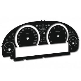 BMW F01, F02, F06, F07, F10, F11, F12, F15, F18, F25 - zamiennik tarcz licznika z MPH na km