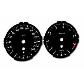 BMW E90 , E93 - zamiennik z MPH na km