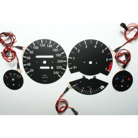 BMW E30 wzór jak oryginał tarcze licznika zegary INDIGLO