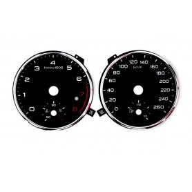 Audi Q3 Replacement tacho dial - converted from MPH to Km/h