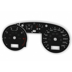 Audi A2 Replacement dial - converted from MPH to Km/h