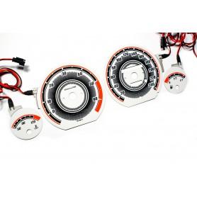 Audi 80 i 90 (B3, B4) Wzór 3 tarcze licznika zegary INDIGLO